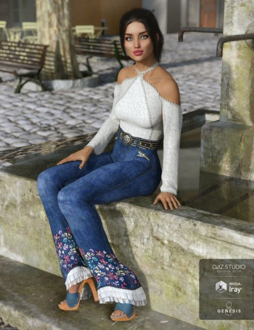 dForce Groovy Outfit for Genesis 8 Female(s)