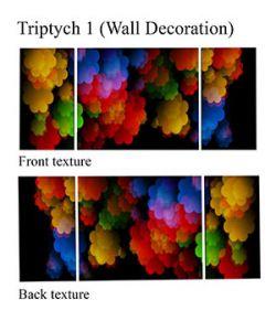 Triptych 1 - Wall Decoration FBX