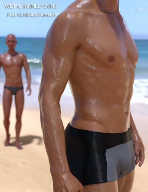 Wet And Tanned Skins For Genesis 8 Male(s)