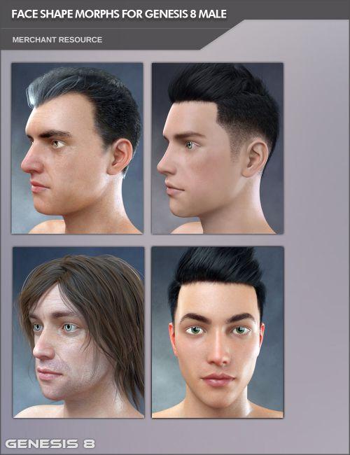 Face Shape Morphs MR for Genesis 8 Male