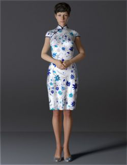dForce H&C Short Qipao Dress for Genesis 8 Female(s)