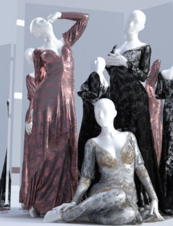 dForce Duchess Dress for Genesis 3 and 8 Female(s)