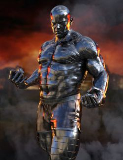 Massive Metal Skin Textures for Genesis 8 Male(s)