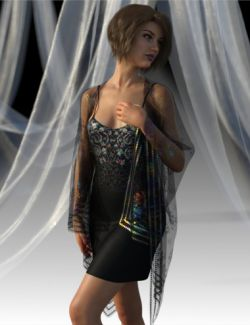 dForce Shirred Dress Outfit for Genesis 8 Female(s)