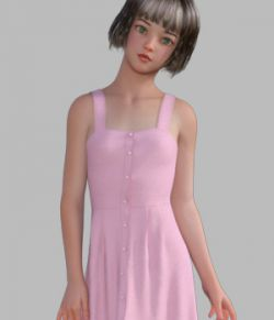 dForce Summer Dress 1 for Genesis 8 Female