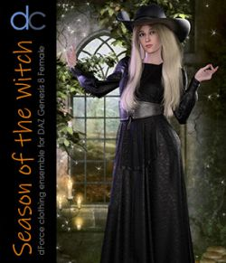 DC-Season Of The Witch for DAZ G8 Female