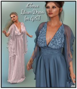 dForce- Lilium Dress for G8F