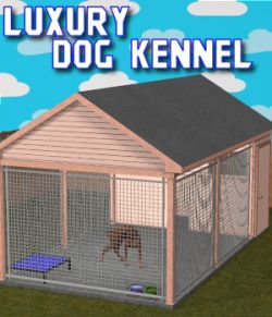 Luxury Dog Kennel for Poser 7+