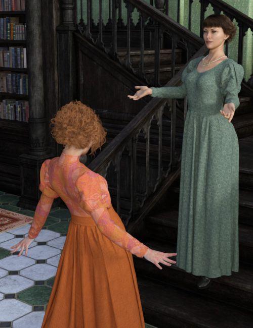 dForce Regal Dress for Genesis 8 Female(s)