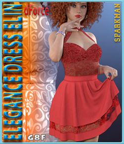 dForce Elegance Dress Elin for Genesis 8 Female