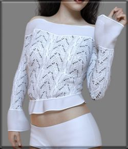 Faxhion - X-Fashion Crochet Lace Top