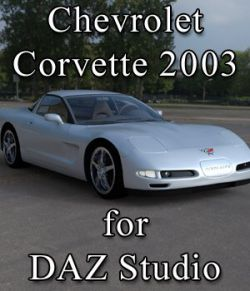 Chevrolet Corvette 2003 for DAZ Studio
