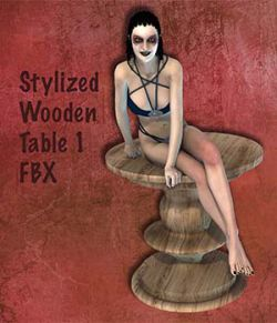 Stylized Wooden Table 1 FBX- Extended License