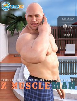 Z Muscleman- Poses and Expressions for Genesis 8 Male and The Brute 8
