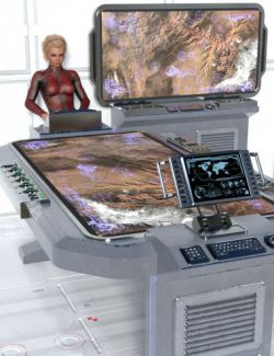 Sci-fi Tactical Table And Monitor