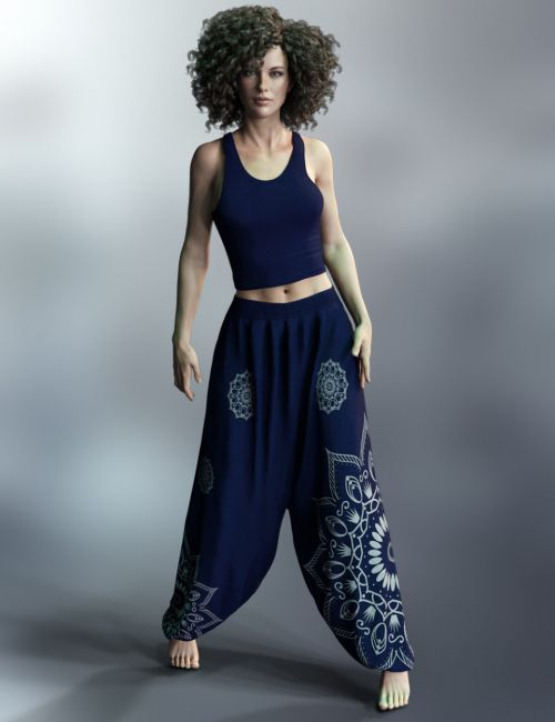 dForce X-Fashion Harem Outfit for Genesis 8 Female(s)
