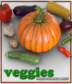 Exnem Veggies for Daz Studio Iray