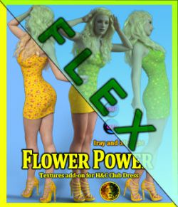 FLEX Flower Power for H&C Club Dress for Genesis 8 Female and Genesis 3 Female