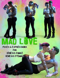 Mad Love: Couple Poses for Genesis 8 Male & Genesis 8 Female