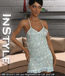 InStyle - JMR dForce Cute Lace Nightdress for G3F and G8F