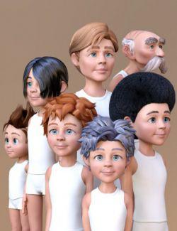 Toon Generations Hair for Genesis 8 Male(s)