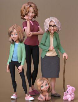 Toon Generations Essentials for Genesis 8 Female(s)