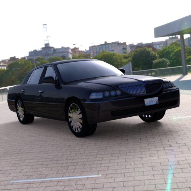 Luxury Sedan Car (for DAZ Studio)