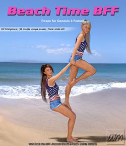 WM's Beach Time BFF - Poses for Genesis 3 Female
