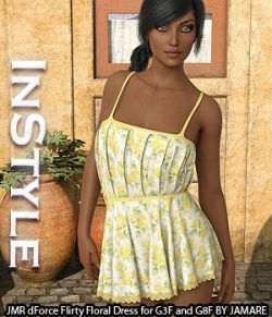 InStyle - JMR dForce Flirty Floral Dress for G3F and G8F