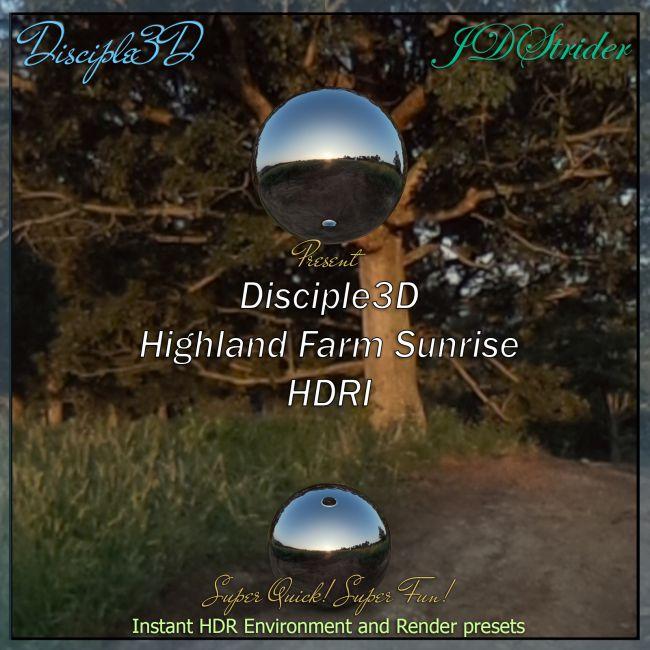 Disciple3D - Highland Farms Sunset HDRI