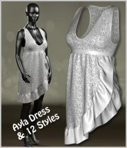 Ayla Dress and 12 Styles for Project Evolution, V4, Dawn and Pauline