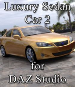 Luxury Sedan Car 2 for DAZ Studio