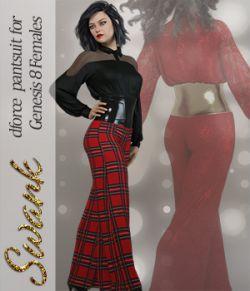 Swank dForce pantsuit for Genesis 8 Females