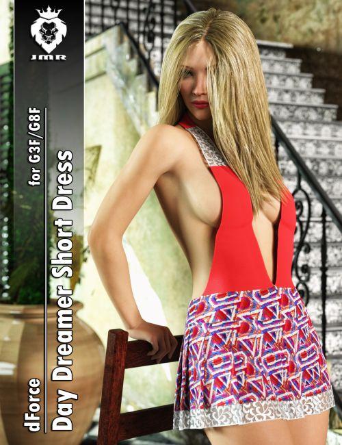 JMR dForce Day Dreamer Short Dress for G3F and G8F