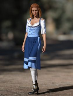 dForce Oktoberfest Dress for Genesis 8 Female(s)