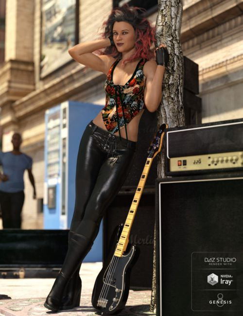 dForce Rock On Outfit for Genesis 8 Female(s)