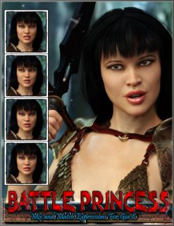 Battle Princess Mix and Match Expressions For Gia 8 And Genesis 8 Female(s)