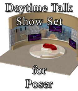 Daytime TV Talk Show Set - for Poser