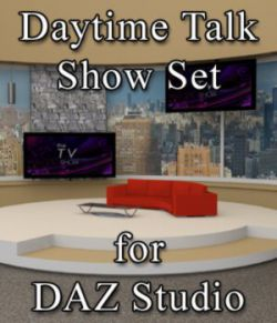 Daytime TV Talk Show Set - for DAZ Studio