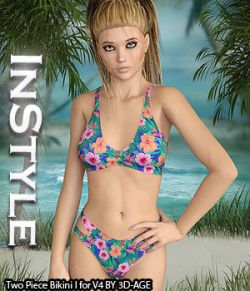 InStyle- Two Piece Bikini I for V4A4G4S4Elite and Poser