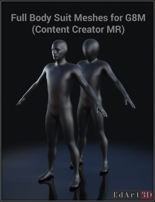 Full Body Suit Meshes for G8M - Content Creator MR