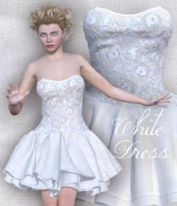 White Dress for V4 and Poser