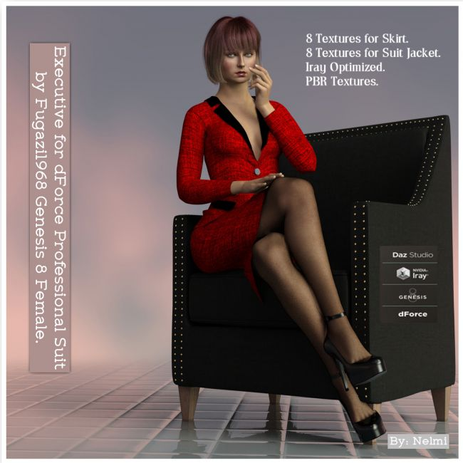 Executive Texture set for FG dForce Professional Suit for Genesis 8 Female