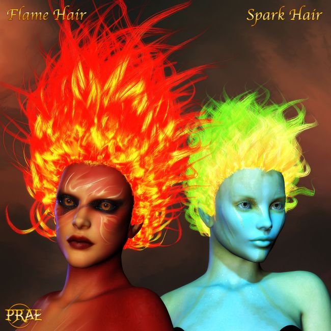 Prae-Fire Hair Double Pack V4/M4 Poser