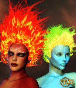Prae-Fire Hair Double Pack V4/M4 Poser