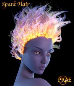 Prae-Spark Hair For G3/G8 Daz