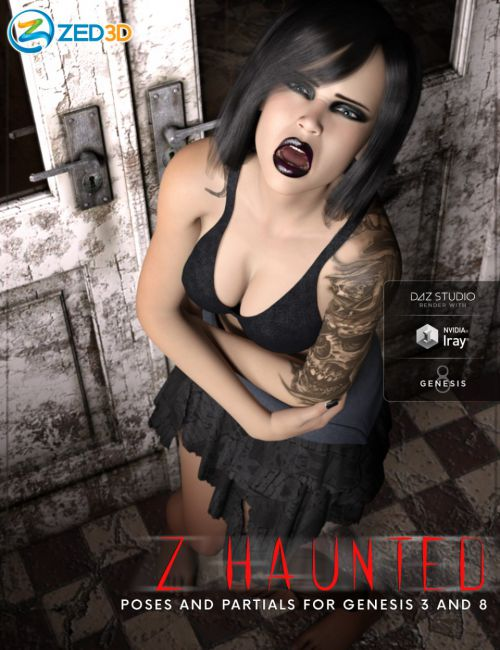 Z Haunted - Poses and Partials for Genesis 3 and 8