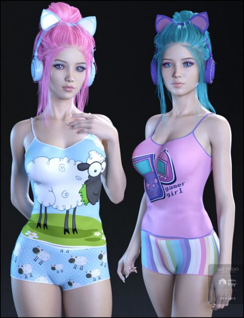 Kawaii Textures for Gamer Girl PJs and Accessories