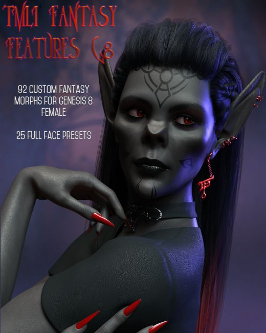 TMLI Fantasy Features for Genesis 8 Females