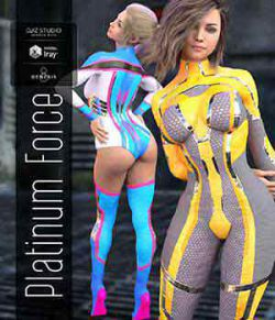 Platinum Force Ouitfit for Genesis 8 Female